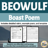 Beowulf Boast Poem Assignment: Rubric, Prewriting, Example, and Template