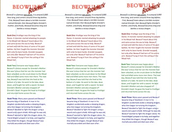Beowulf Bookmark: Summaries and Key Words