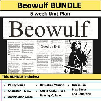 Beowulf Unit Plan Worksheets Teachers Pay Teachers