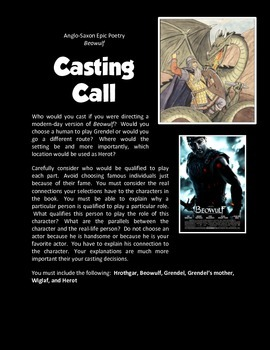 Beowulf (Casting Call Activity or Alt. Assessment)