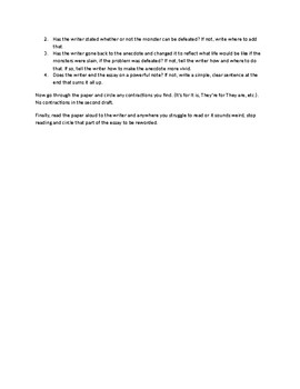 Beowulf Cause and Effect Essay Peer Revision Sheet