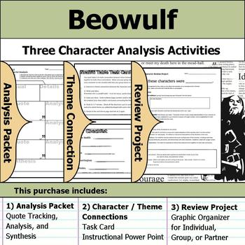 Beowulf - Character Analysis Packet, Theme Connections, & Project
