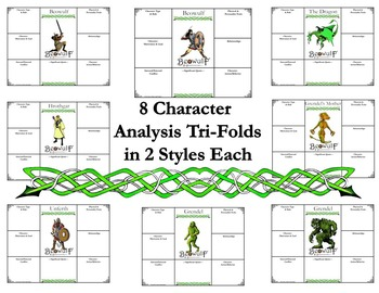 Beowulf Character & Literary Element Analysis Tri-Folds