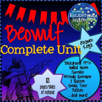 Beowulf Unit Complete Unit- 121 pages- Study Guide (Anglo-Saxons)