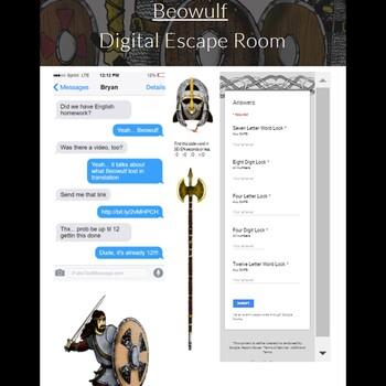 Beowulf Digital Escape Room Game Bundle