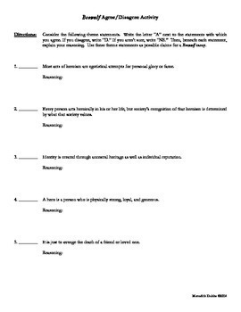 Beowulf Essay Packet by The Bespoke ELA Classroom | TpT