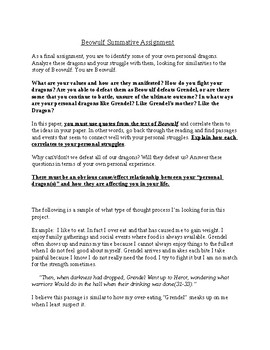 Beowulf Final Assessment - Cause/Effect Essay