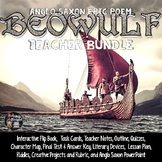 Beowulf Literature Flip Book, Lesson, Assessments, Task Cards, Projects