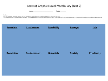 Beowulf Gareth Hinds Graphic Novel Interactive Vocabulary Study Guide Assess. 2