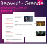 Beowulf - Grendel Questions with ANSWER KEY Section 1