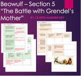 "Beowulf - ""The Battle with Grendel's Mother"" with ANSWER K"