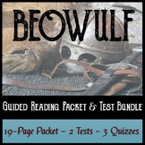 Beowulf Guided Reading Packet, Test, and Quiz Bundle
