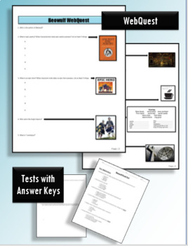 Beowulf Guided Reading Packet and Test Bundle