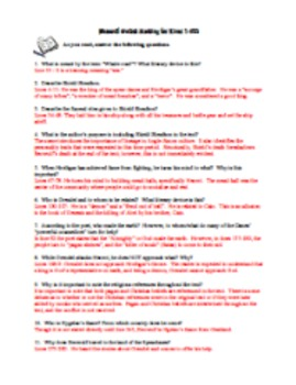 Beowulf Guided Reading Questions