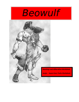 Beowulf ~ Hero Traits and Literary Techniques Worksheets (7 pages with KEYS)