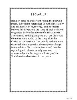 Beowulf Informational Text Scavenger Hunt