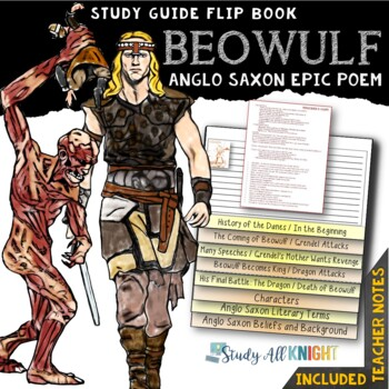 BEOWULF READING LITERATURE GUIDE FLIP BOOK