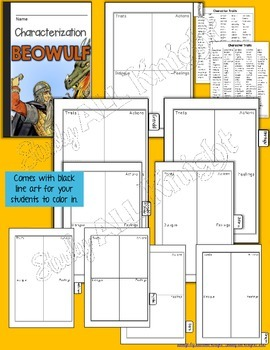BEOWULF: INTERACTIVE NOTEBOOK CHARACTERIZATION MINI FLIP