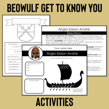Beowulf Introduction, Beowulf Epic Hero Traits, and Beowulf Boast Activity