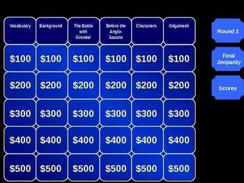 Beowulf Jeopardy Review
