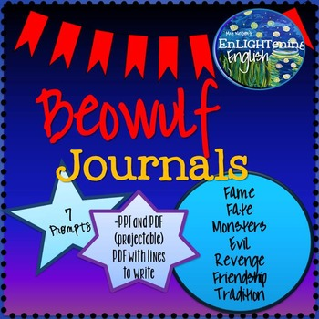 Beowulf Journal Prompts (projectable and printable)