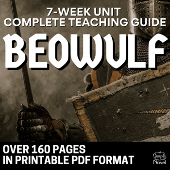 Beowulf teaching resources teachers pay teachers beowulf literature guide analysis lessons activities assessments 164 pages fandeluxe Image collections