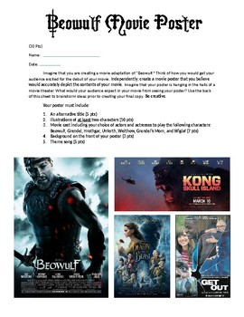 Beowulf Movie Poster Assignment