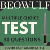 Beowulf Test with 30 multiple choice questions and key