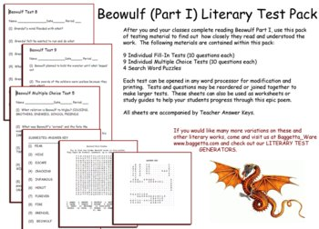 Beowulf Part I Test Pack
