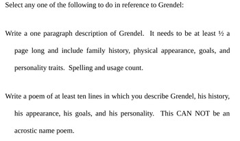 Beowulf Part III Questions with Answers and Grendel Character Sketch