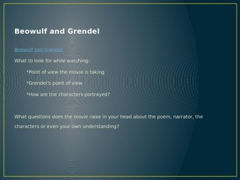 Beowulf Powerpoint Debate/Point of view
