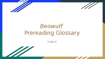 Beowulf Prereading Glossary