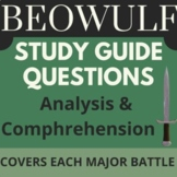 BEOWULF 26 Comprehension Short-Answer Questions (w/ key) f