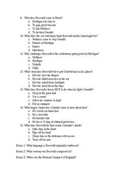 Beowulf Quiz 001