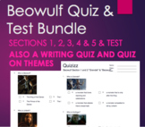 Beowulf Quiz and Test Bundle - Multiple Choice and Writing