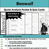 Beowulf - Quote Analysis & Reading Quizzes