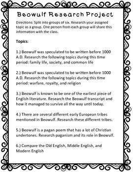 Beowulf Research Project