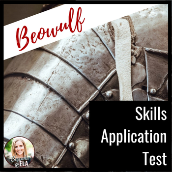 beowulf skills application test by the bespoke ela classroom tpt beowulf skills application test
