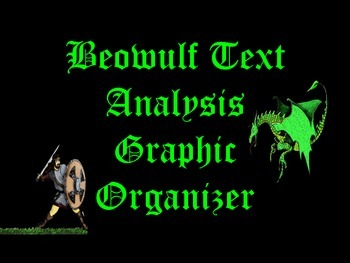 Beowulf Text Based Analysis Graphic Organizer