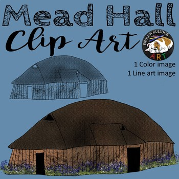 Beowulf Viking Mead Hall Long House Clip Art