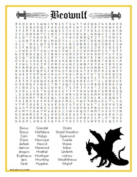 Beowulf Word Search
