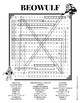 Beowulf Word search puzzle worksheet