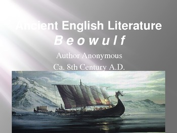 Beowulf and Ancient England Background Lecture with Graphics and Audio