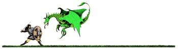 Beowulf and Dragon Header Clip Art