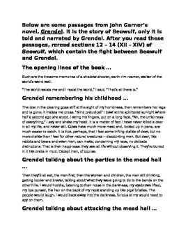 Beowulf and Grendal Point of View Comparison