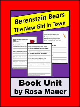 Berenstain Bears Book Unit The New Girl in Town