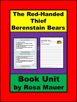 Berenstain Bears Chapter Book: The Red-Handed Thief Book Unit