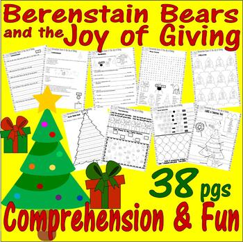 Berenstain Bears Christmas : Joy of Giving Comprehension Book Study 18p Packet