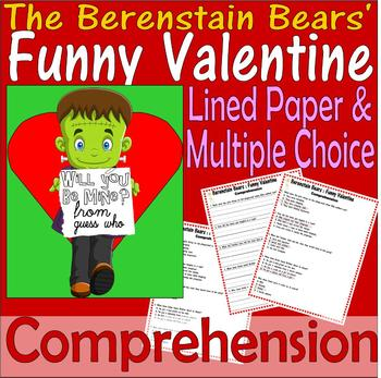 Berenstain Bears Funny Valentine Comprehension Questions & Multiple Choice