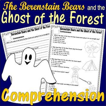 Berenstain Bears Ghost Forest Halloween Multiple Choice Questions Comprehension